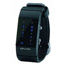 orologio binario led blu