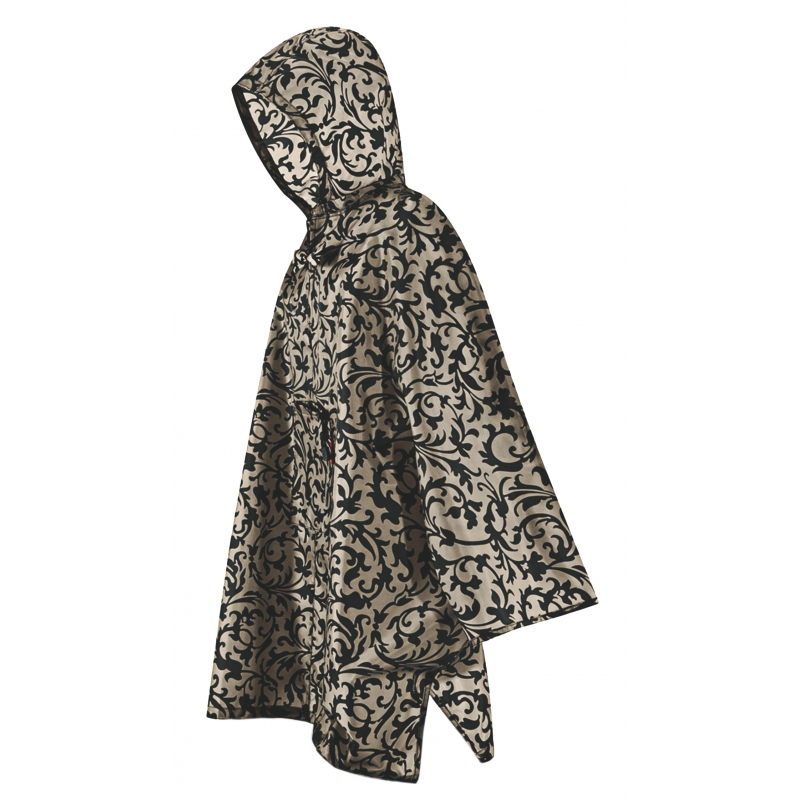 poncho baroque taupe