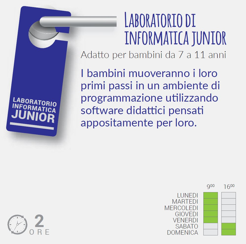 Laboratorio di informatica Junior - Porte Aperte 2018 al Polo Scientifico e Tecnologico - Ferrara